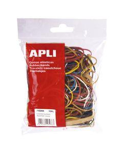 APLI Sachet 100 g bracelets élastiques caoutchouc naturel taille et couleur assorties