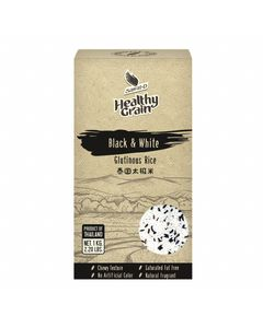 Mélange de Riz Gluant Noir et Blanc de Thaïlande Healthy Grain - Sac de 1KG - Marque SAWAT-D - 12KG (12x1KG)