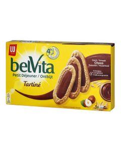 LU BelVita Petit Déjeuner Tartiné Goût Choco Noisette 250g (lot de 6)