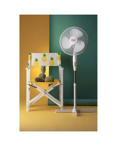 ADLER EUROPE Ventilateur sur pied réglable 102 - 125 cm 45W Diam 40 cm blanc
