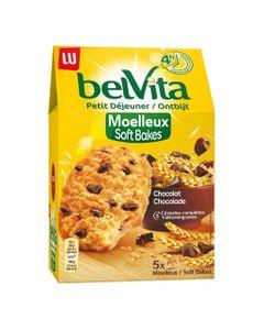 LU BelVita Petit Déjeuner Moelleux Soft Bakes Chocolat aux 5 Céréales Complètes 250g (lot de 6)