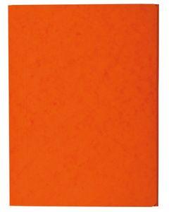 COUTAL Chemise Carte Lustée à rabats format 24 x 32 cm sans élastique Orange