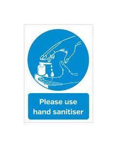 Autocollant à Message Désinfection des Mains - Format A5 -