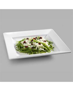 Assiette Carrée en Mélamine Blanc 33,5 à 37,3 cm - Pujadas -    33,5 cm                         33,5 cm