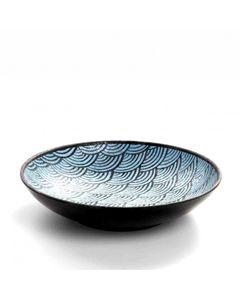 Assiette Creuse Mélamine Motifs Bleus Ø 22,5 cm - Pujadas -    22,5 cm