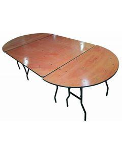 Table Pliante Bois Demi-Ronde 122 x 61 cm -