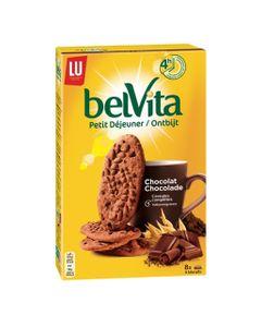 LU BelVita Petit Déjeuner Chocolat 5 Céréales Complètes 400g (lot de 6)