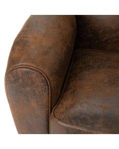 Canapé Club simili cuir marron - Amadeus