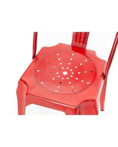 Chaise Bistrot Métal rouge (lot de 2) - Amadeus