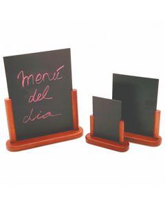 Ardoise de Table avec Cadre en Bois Massif 10 à 21 cm - Pujadas -          Bois et plastique                  21 x 30 cm