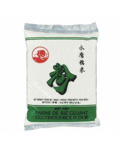 Farine de Riz Gluant pour préparations de plats et desserts asiatiques - Marque COQ - 400g - 1 sachet