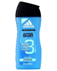 Adidas Douche After Sport 3 en 1 Body Hair Face Protein Hydrating 250ml (lot de 6)