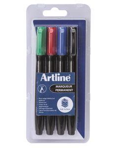 ARTLINE 4 marqueurs 'Supreme EPF-700' permanent indélébile pointe conique 1 mm 4 assortis