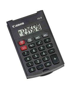 CANON Calculatrice AS-8 Couvercle et piles 8 chiffres