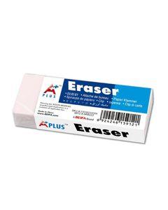 A PLUS Gomme plastique Eraser 6 x 2,2 cm blanche x 3