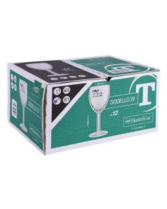 Boite de 12 verres à pied trempés Godello 19cl