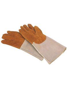 Gants anti-chaleur en cuir rembourré jusqu'à 250°C Mafter - 420 mm -          Cuir