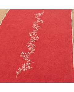 Chemin de table Sacha rouge 150 cm - Amadeus