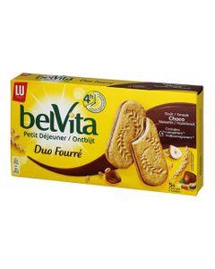 LU BelVita Petit Déjeuner Duo Fourré Goût Choco Noisette 253g (lot de 6)