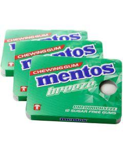 Mentos Gum Breeze Chlorophylle (Lot économique de 3 paquets)