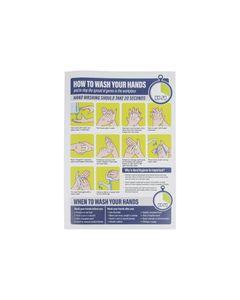 Autocollant Notice Lavage des Mains sur le Lieu de Travail - Format A4 -