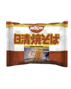 Nouilles japonaises sautées Yakisoba instantanées en sachet 100g - Marque NISSIN - 60 sachets