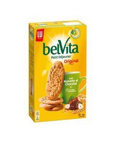 LU BelVita Petit Déjeuner Original Goût Noisette et Chocolat & 5 Céréales Complètes 400g (lot de 6)