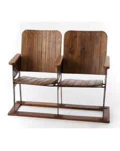 Double chaises de cinéma en bois - Amadeus